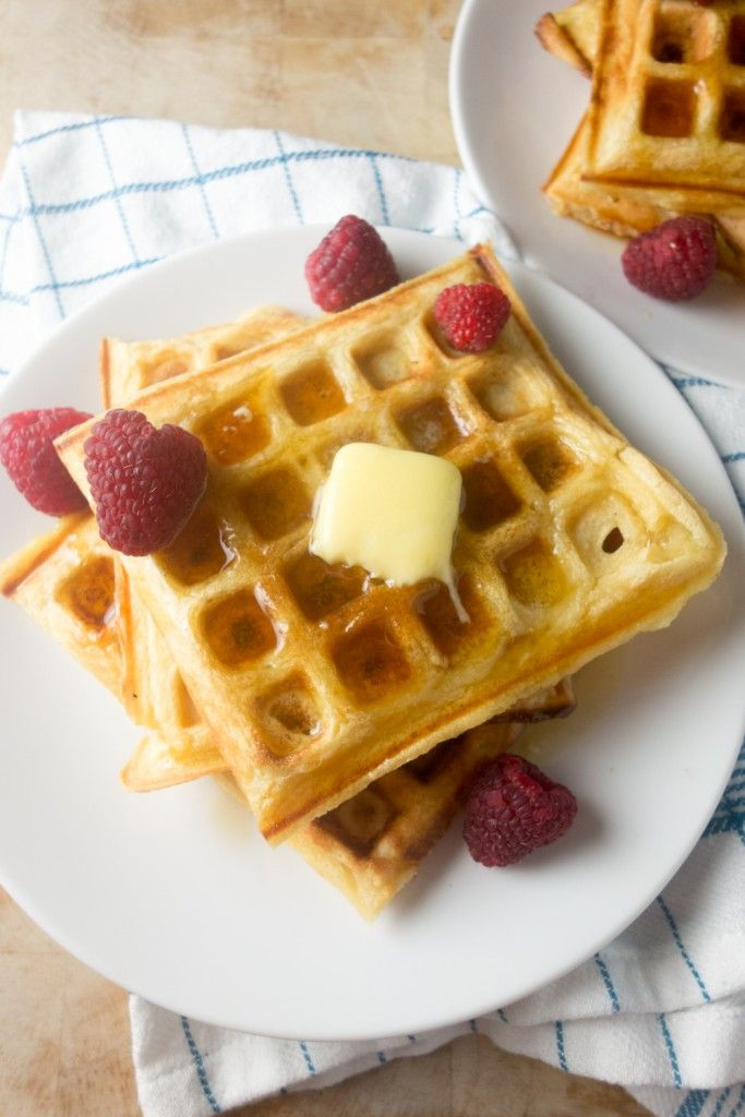 Vanilla Buttermilk Waffles Recipe Buttermilk Waffles One Waffle Recipe Waffle Recipes