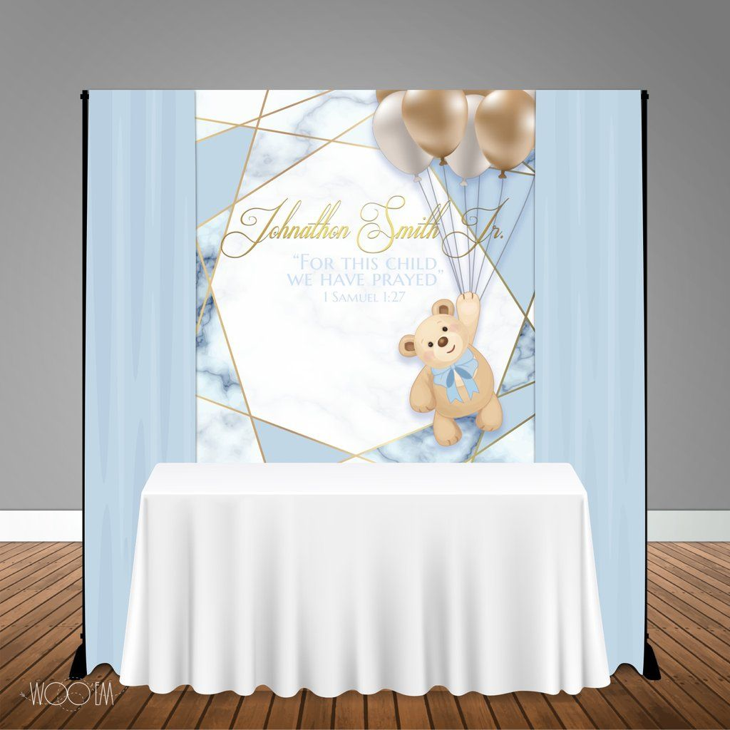Strawberry Teddy Bear Personalised Party Bunting//Banner /& Ribbon