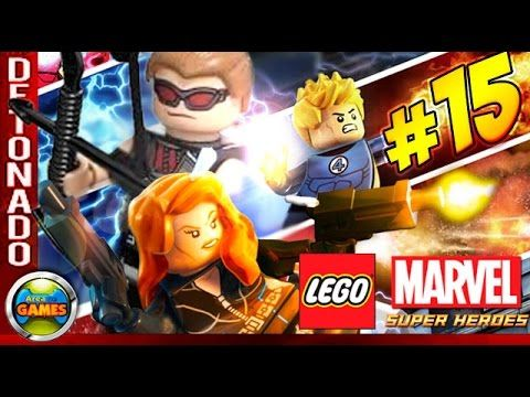 LEGO Marvel Super Heroes Parte #15 Detenção Ruiva Walkthrough