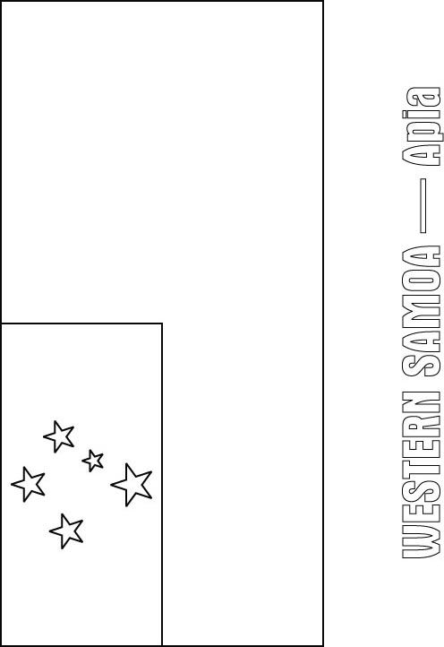 western samoa flag coloring page sonlight core c window on the world
