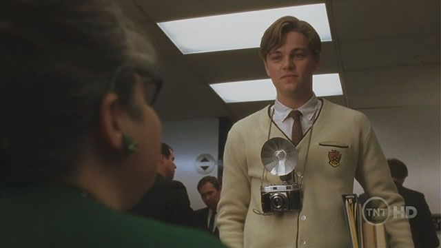 Leonardo DiCaprio in Catch Me If You Can with a Kodak ...
