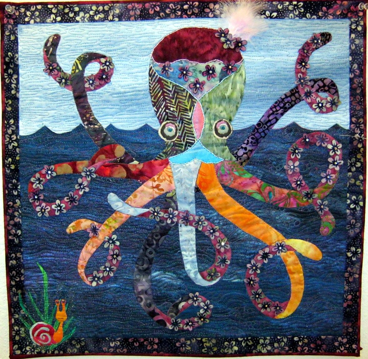 here s looking at you babe octopus quilt by janis stoker on the