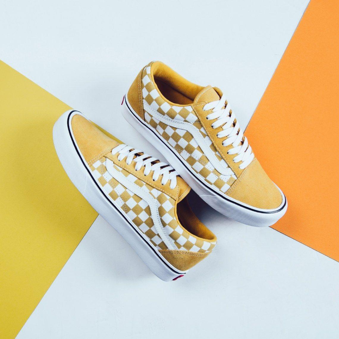 vans checkerboard yellow old skool Sale