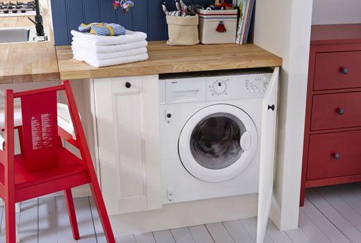 Wasruimte Verschillende Soorten Wasmachines Wasmachines Wasmachine Ikea Keukenkasten