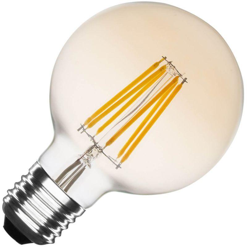 Ampoule Led E27 Dimmable Filament Gold Planet G95 6w Ledkia