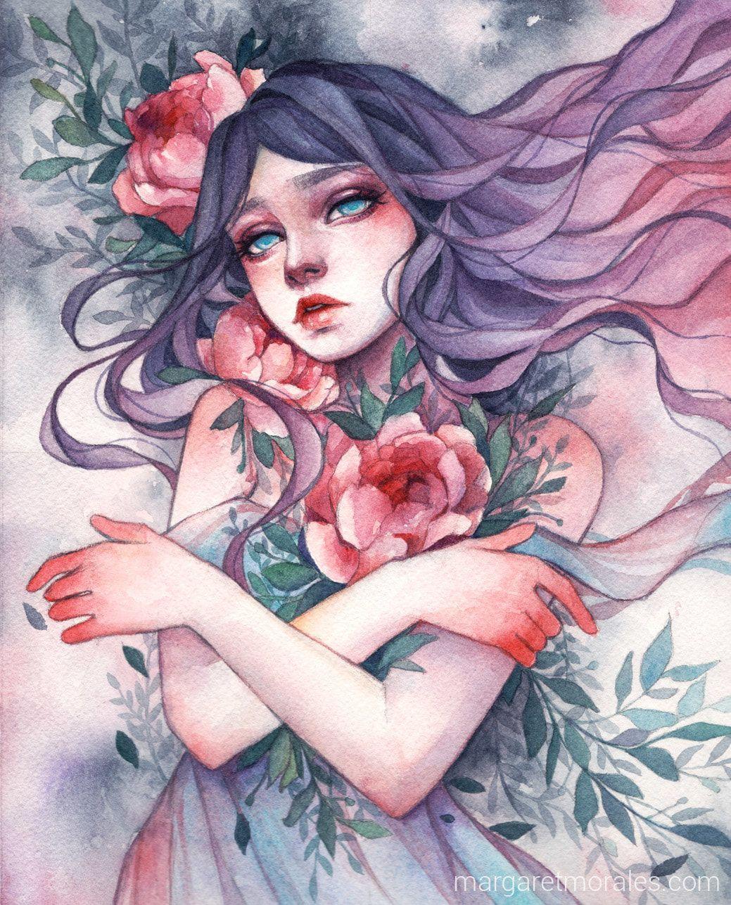 Margaret Morales   Dibujos hermosos, Arte del bosquejo, Bocetos ...