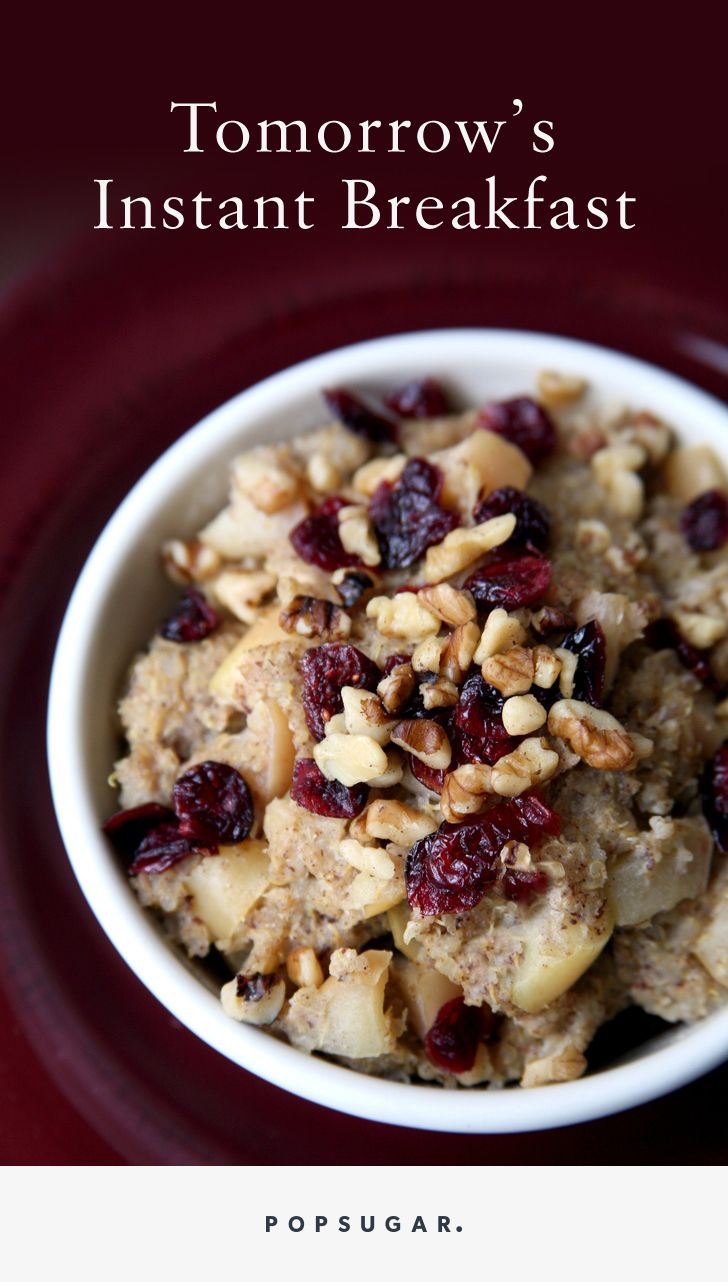 You want a healthy breakfast, but you don't want it to take a lot of time. All you need is five minutes of prep the night before and you can wake up to these recipes including chocolate coconut overnight oats, gingerbread chia pudding, and apple pie quinoa.
