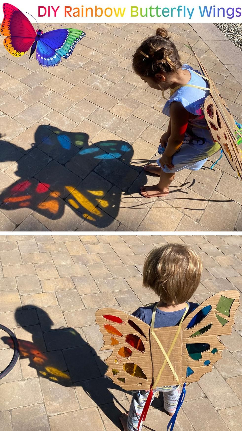 DIY Rainbow Butterfly Wing Craft