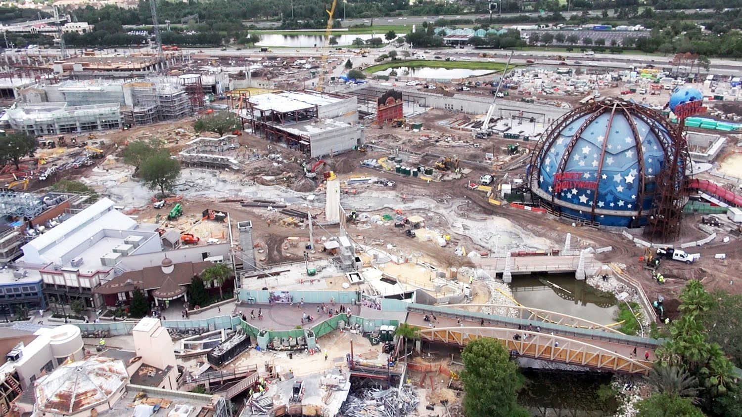 Video: Construction view of Disney Springs from Characters in Flight, June 2015. #disney #disneyworld #wdw #waltdisneyworld #disneysprings #downtowndisney