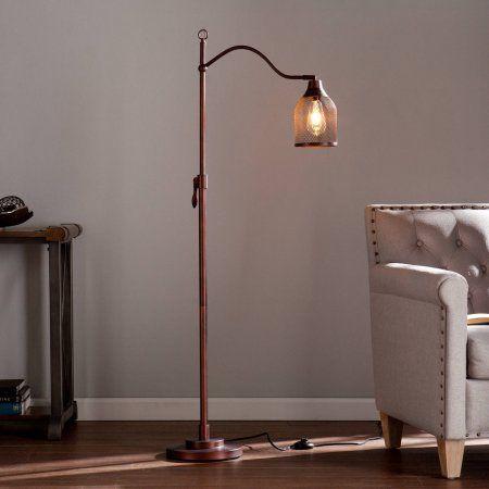 Southen Enterprises Donte Edison Style Floor Lamp, Bronze