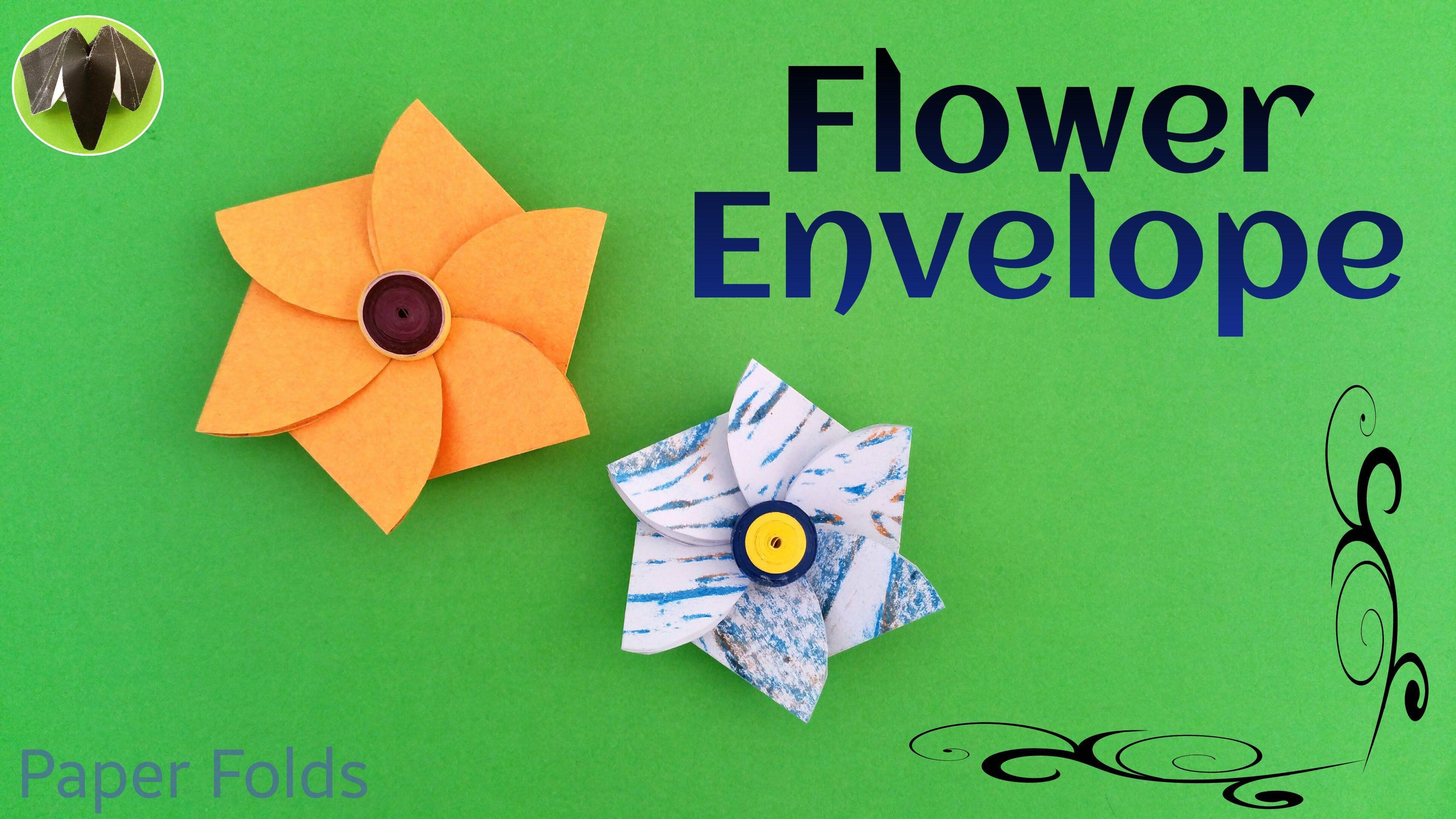 How To Make A Paper Flower Envelope Useful Craft And Origami