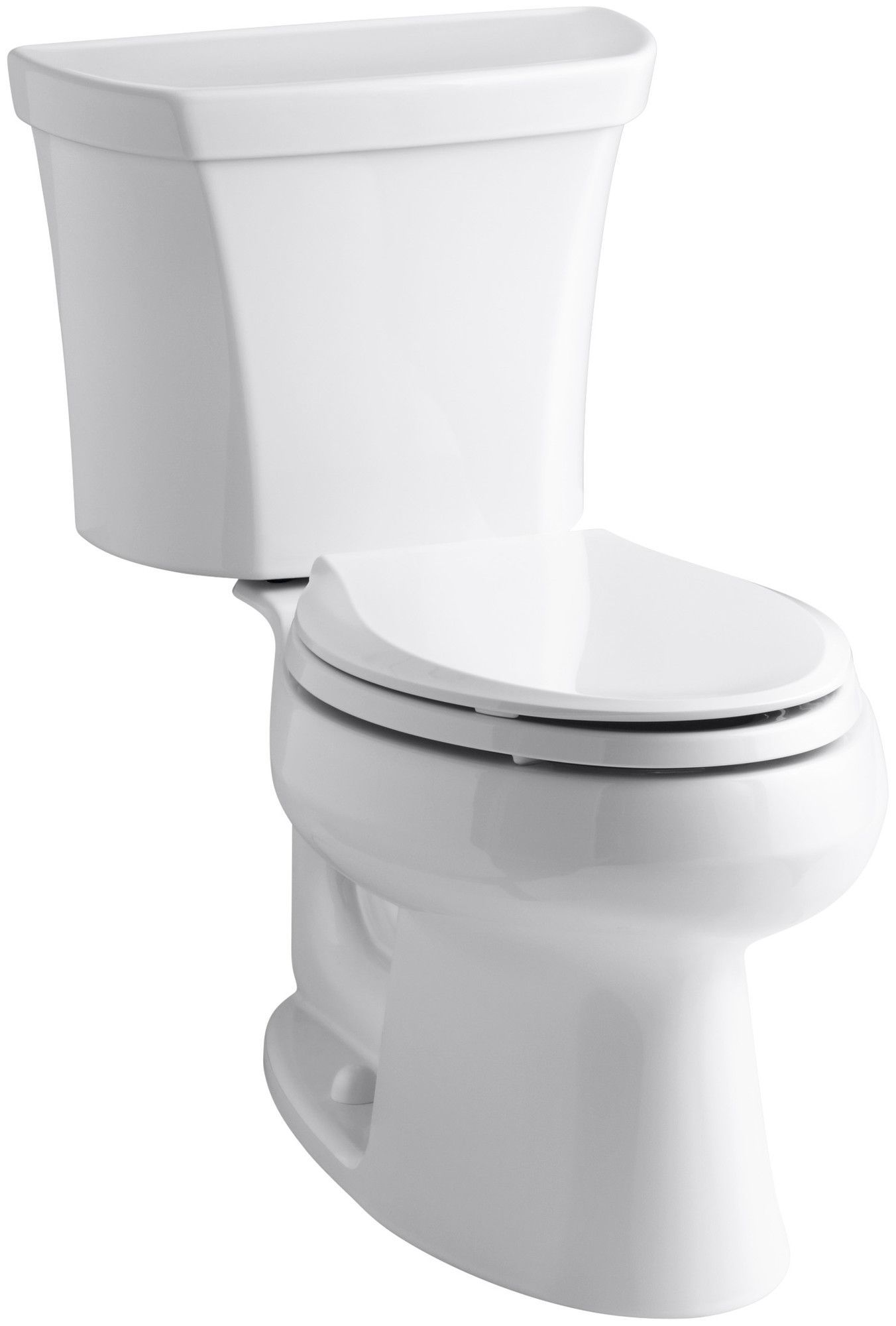 Wellworth Two Piece Elongated Dual Flush Toilet With Right Hand