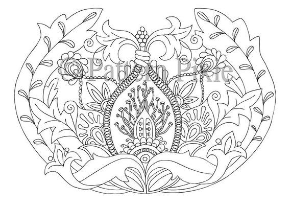 Adult Colouring Page Flower Anatomy | Products | Pinterest | Flores