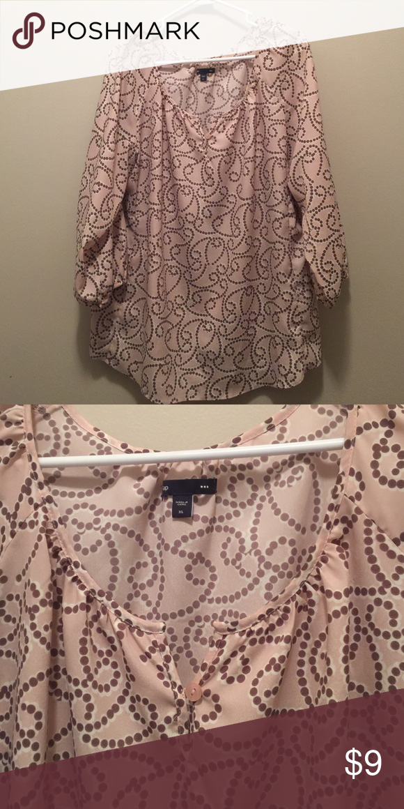 Gap pink blouse size XL EUC. No tears or stains. GAP Tops Blouses