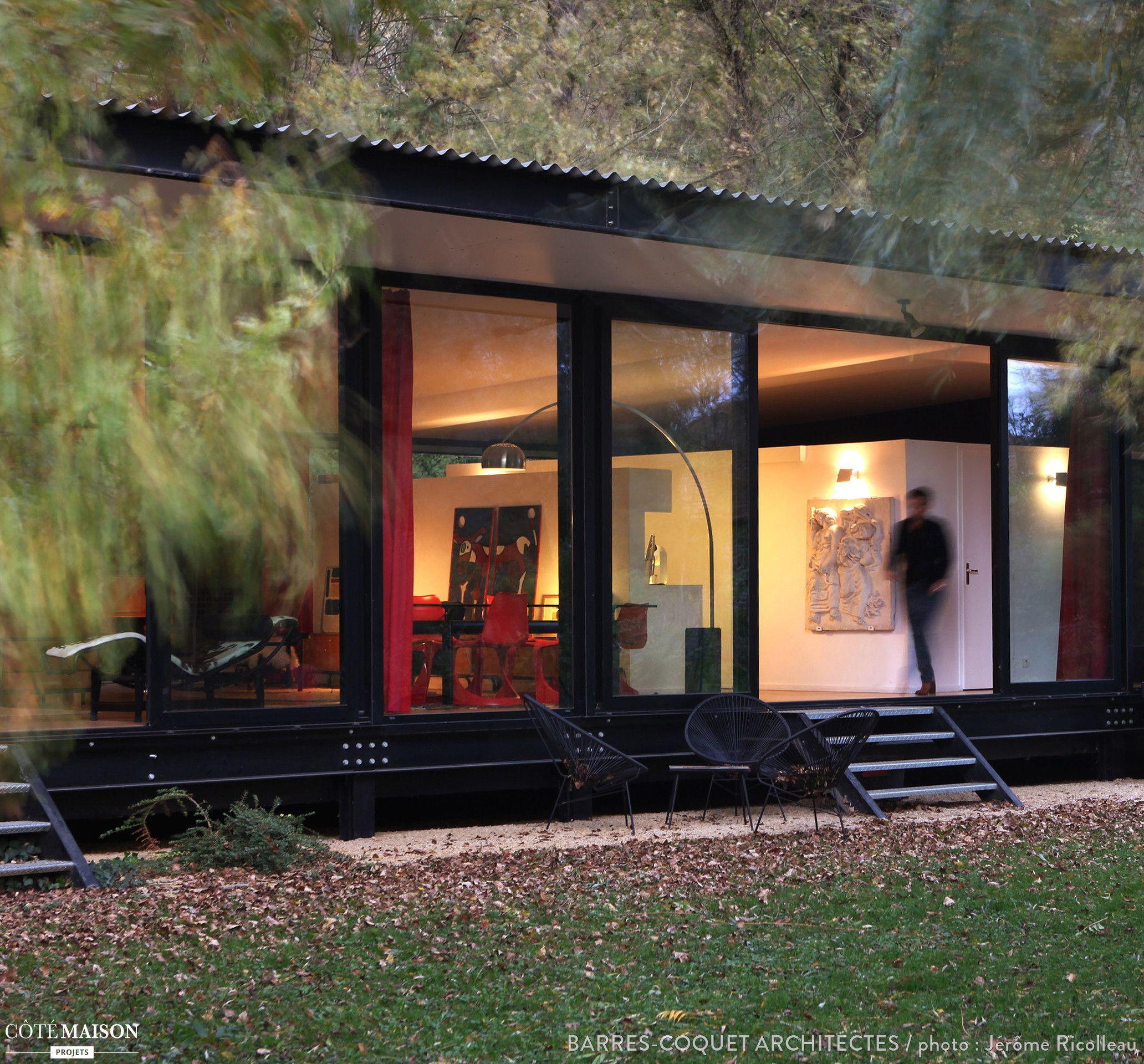 Une Maison De Verre Enti Rement Entour E De Plantes Dream Home  ~ Surelevation Bois Aix En Provence