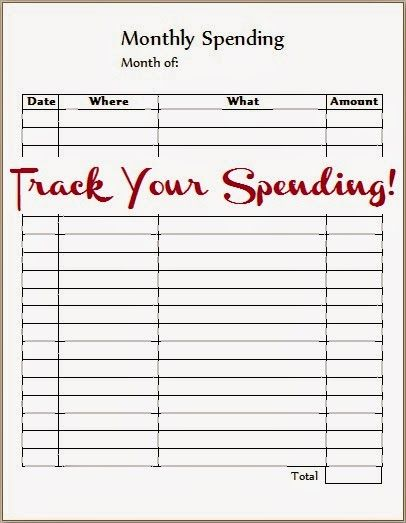 Monthly Spending Tracker | This 'n' That Thursday
