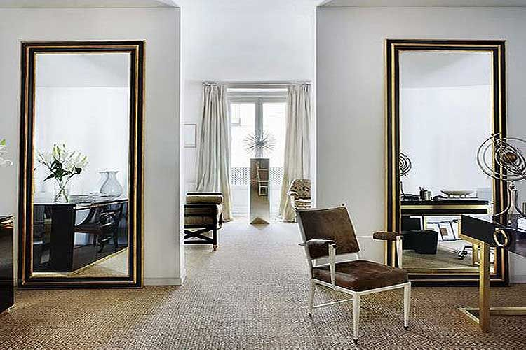 Resultado de imagen de pared de espejo residential for Espejos pared salon