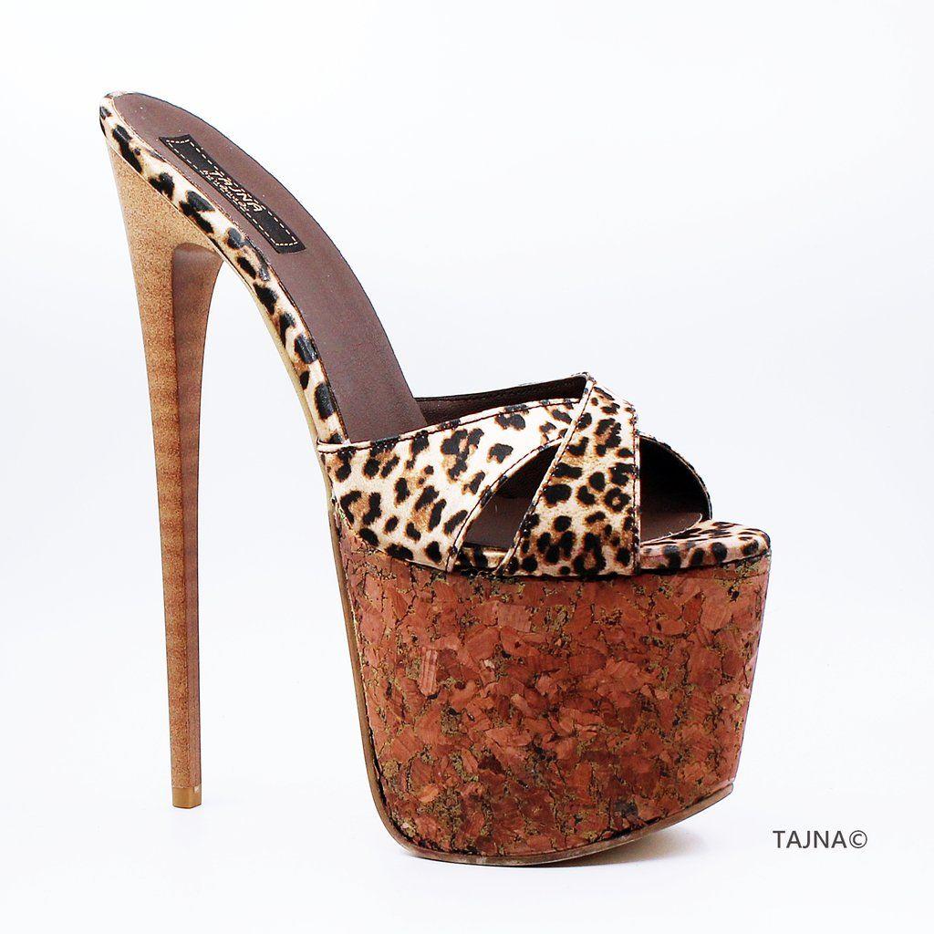 Women/'s Cork Wedge High Heels Platform Sandals Mules Nightclub Summer Shoes Size