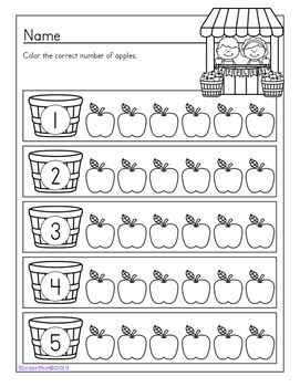 Counting Apples: Math Fun - Freebie!
