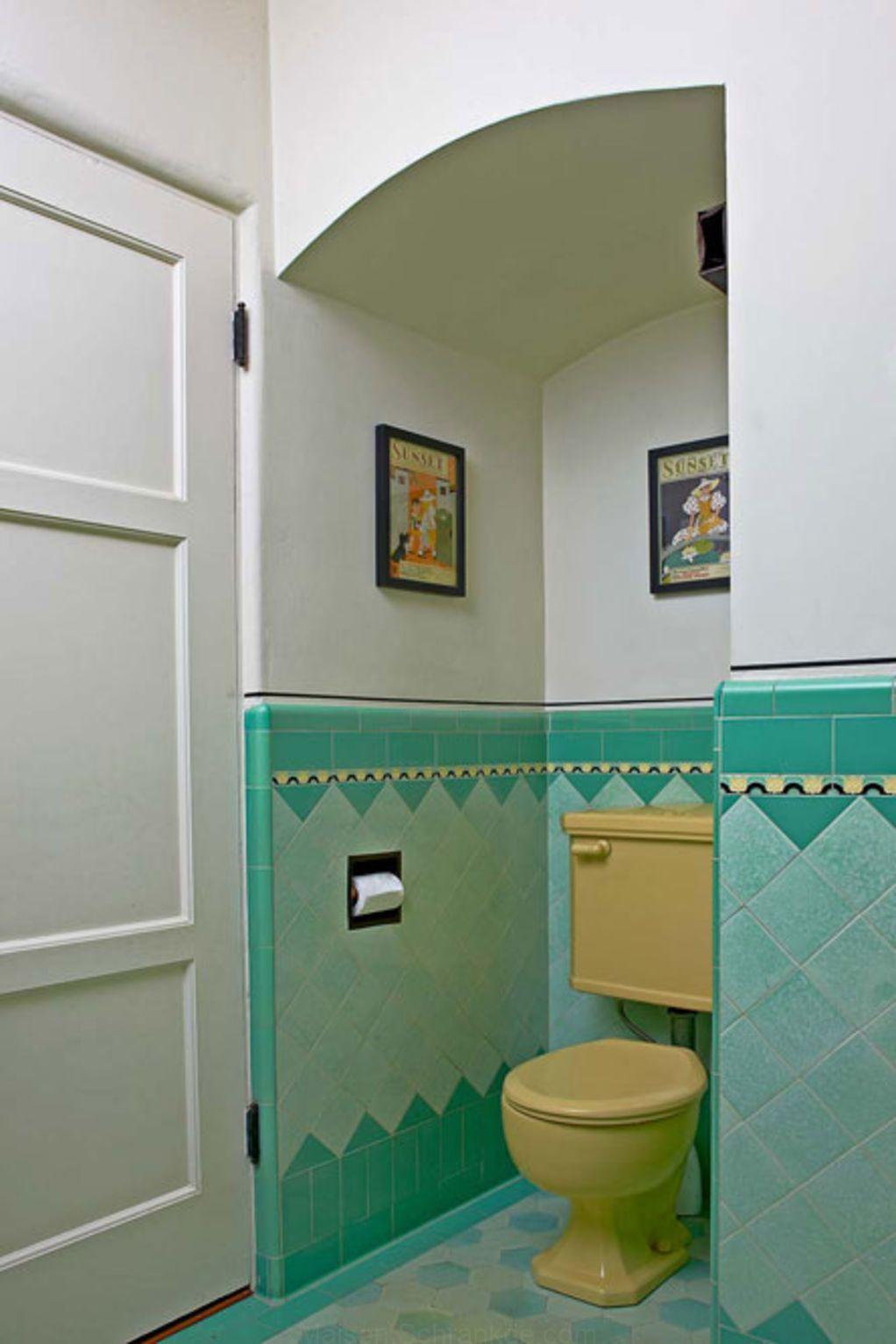 Art Deco Salle De Bain Dans Une Maison Coloniale Espagnole Deco Salle De Bain Carrelage Salle De Bain Conceptions De Carrelage Salle De Bains
