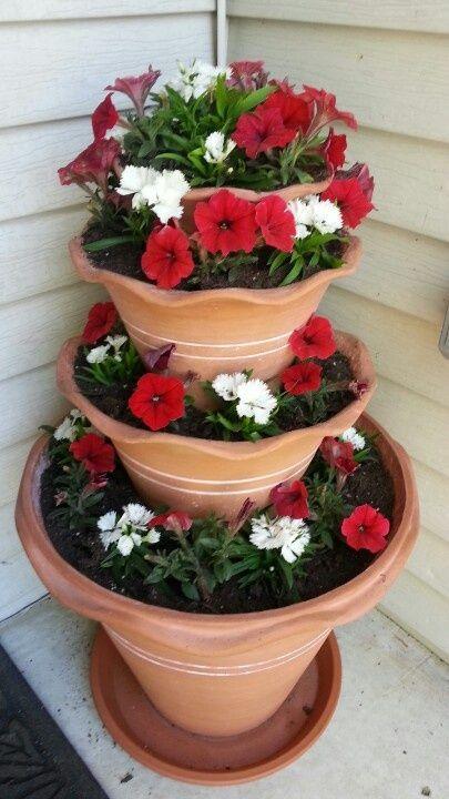 Summer Flower Pot Idea Good Idea To Put Flowers Deer Eat On Top Where They  Canu0027t Reach.