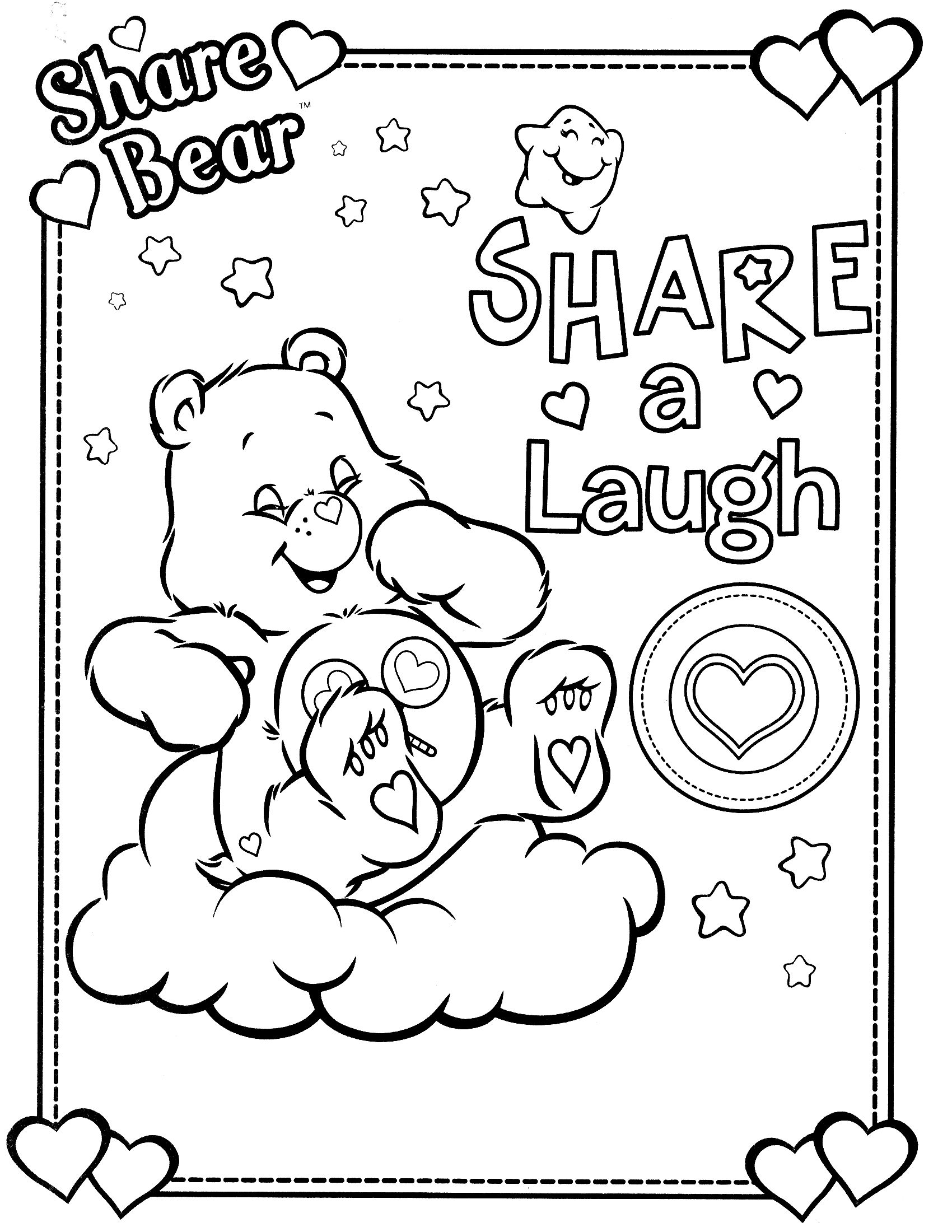 care bears coloring page | COLORING PAGES | Pinterest | Care bears ...