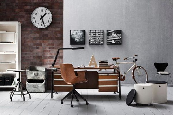 Love the industrial look with a cozy feel