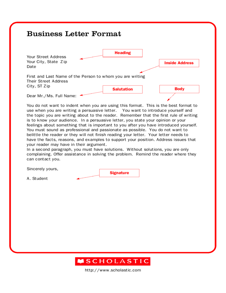 Business Letter Format Free Download Template Pdf  Home Design