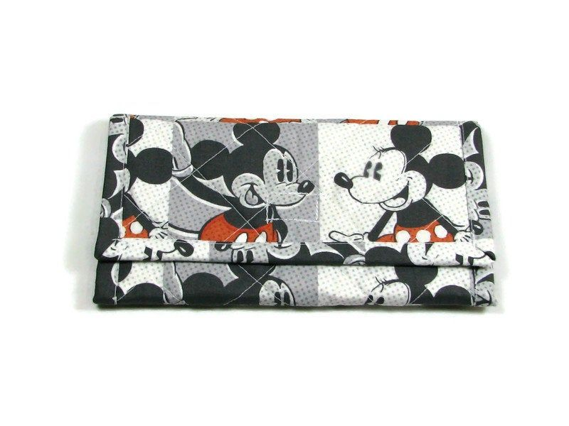 Minnie Mouse handmade fabric coin change purse card holder
