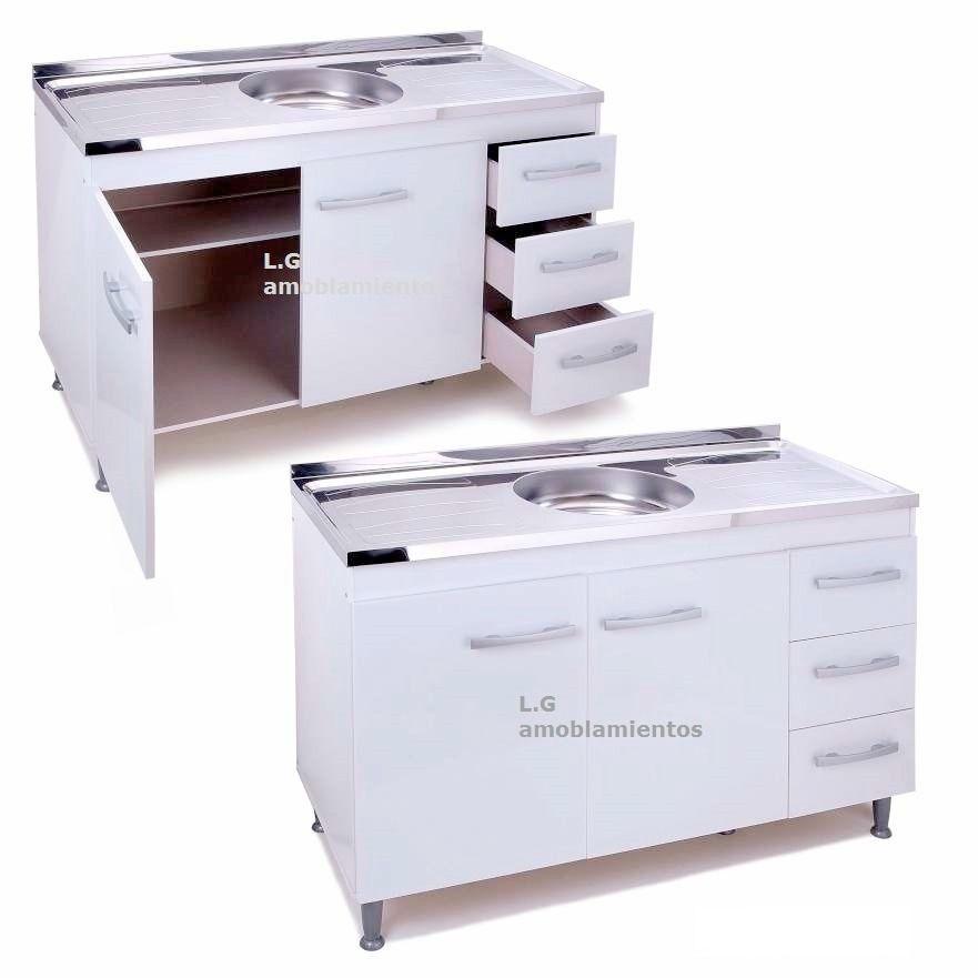 bajo mesada armario mueble cocina 2 puertas 3 cajones | MUEBLES DE ...