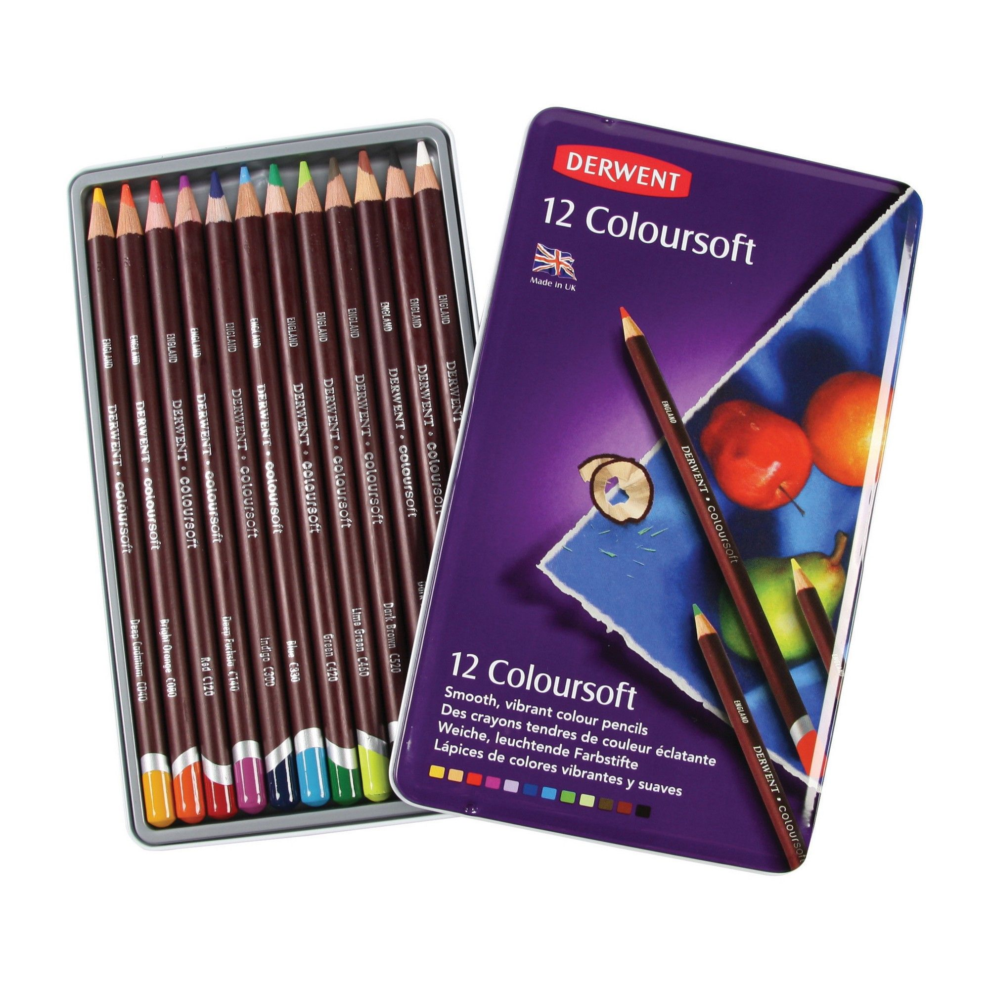 Colored Pencil Set Derwent Coloursoft 12ct Colored Pencils