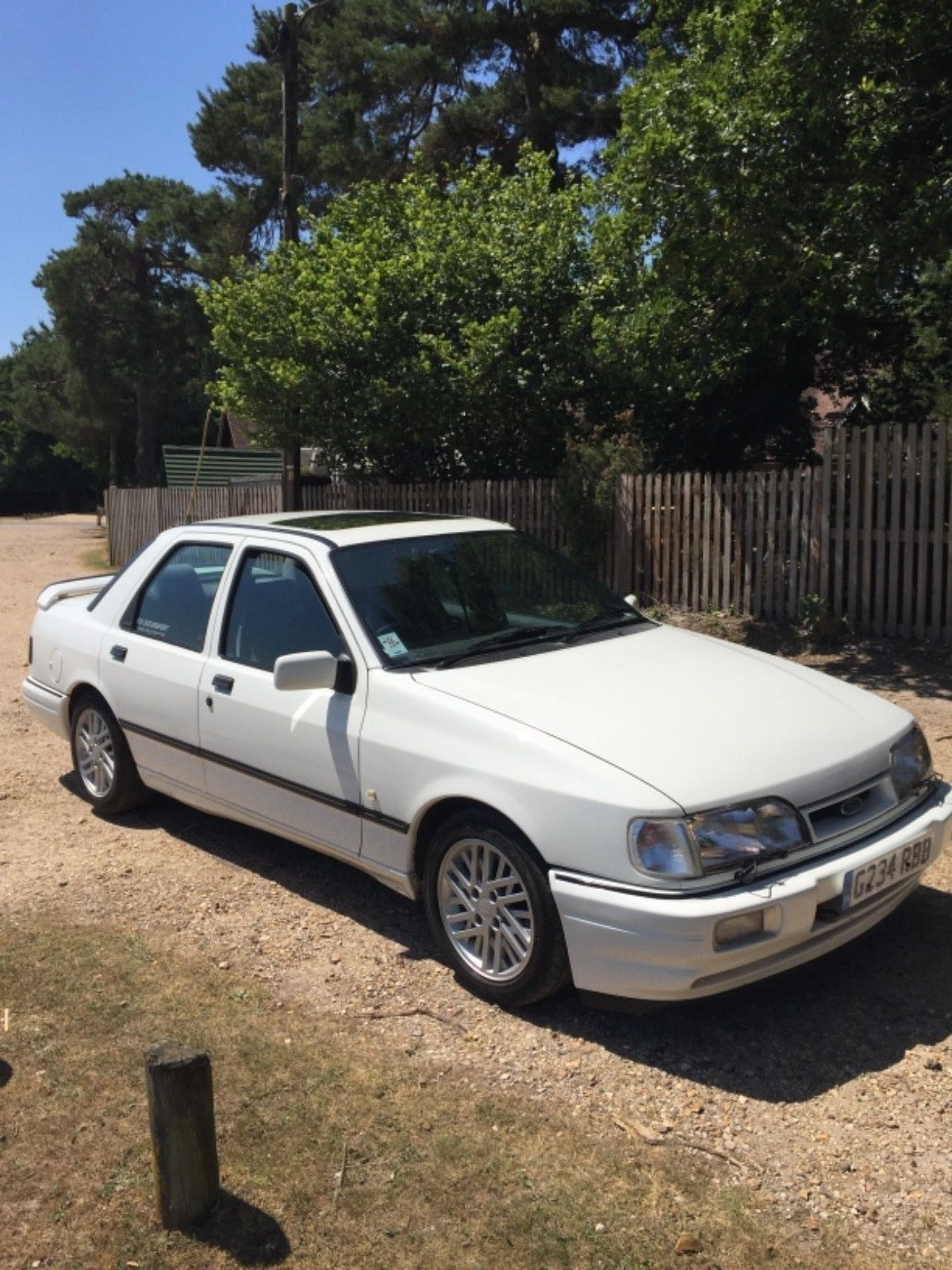 1989 Ford Sierra Sapphires Cosworth 2wd Diamond White Recaro Cloth Only 80k Ford Sierra Ford Recaro