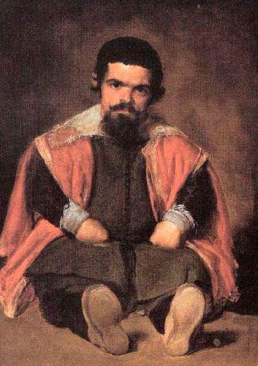 14. El bufón Don Sebastián de Morra. Velázquez.