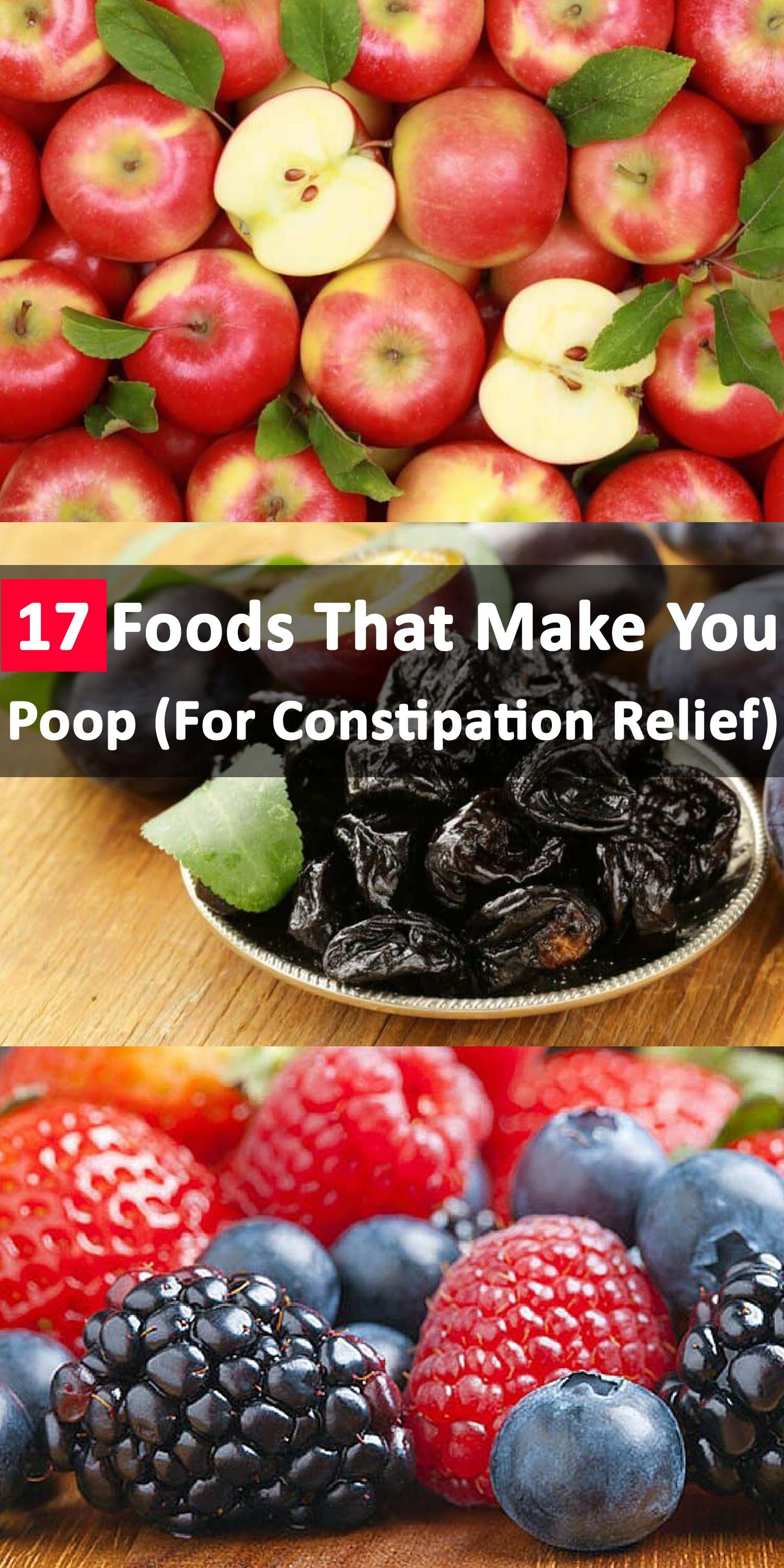 17 foods that make you poop- for constipation relief | healthy