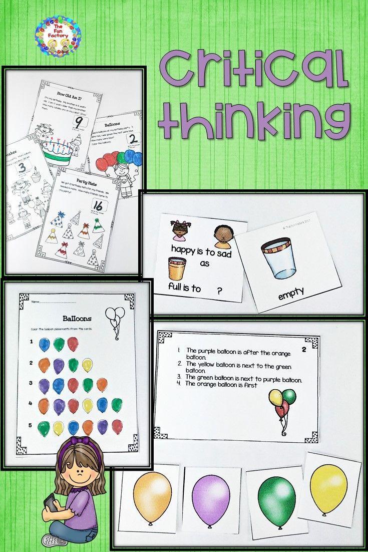 worksheet Skills Worksheet Critical Thinking Analogies Answers problem solving center activities and worksheets thinking skills inference high level