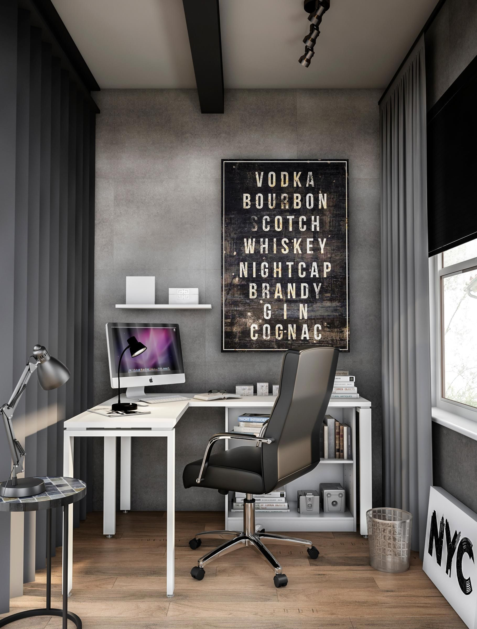 You Need A Space For Big Thoughts We All Do At Home Depot You Can Create A Ho Big Create In 2020 Gray Home Offices Home Office Design Cheap Office Furniture