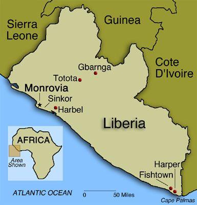 Resultado de imagen de MAPA DE LIBERIA AFRICA