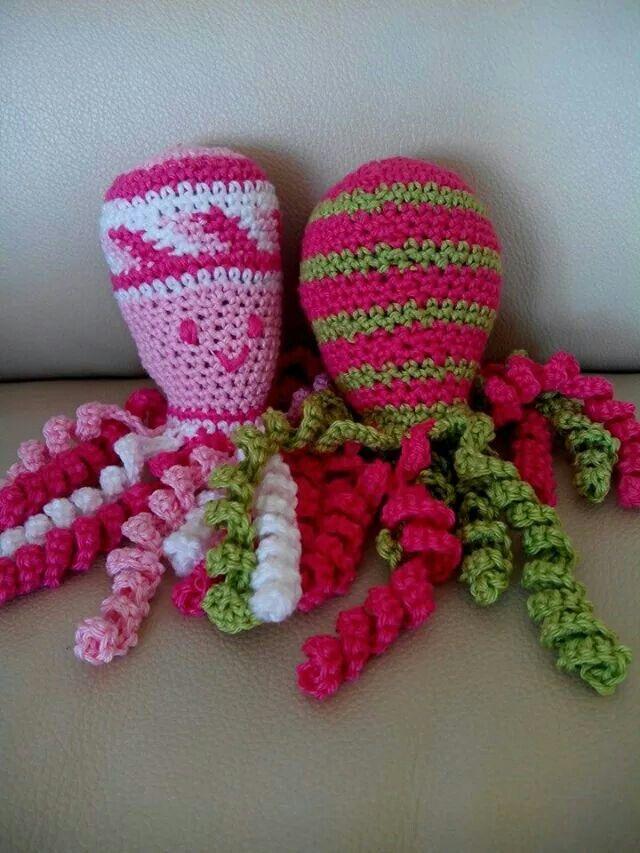 Deze inktvisjes zijn gemaakt door Ans van Tol.