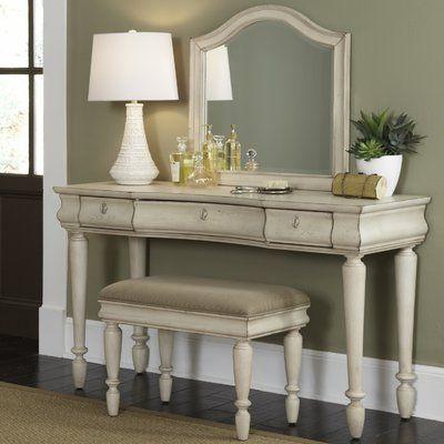 Astoria Grand Warlick Vanity Set With Mirror Bedroom Vanity Set Liberty Furniture Furniture