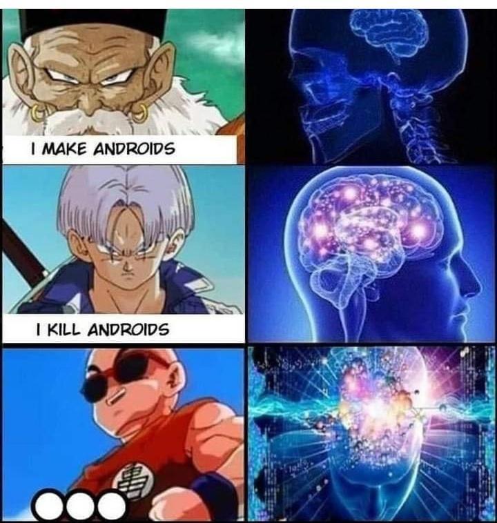 Krillin Doesn T Mess Around Krillin Anime Anime Fan