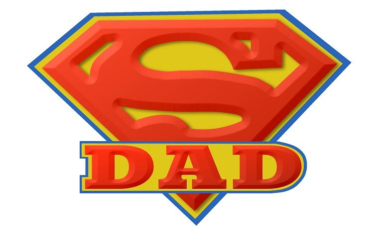 Super Dad Logo Fathers Day Pinterest Super Dad Dads And