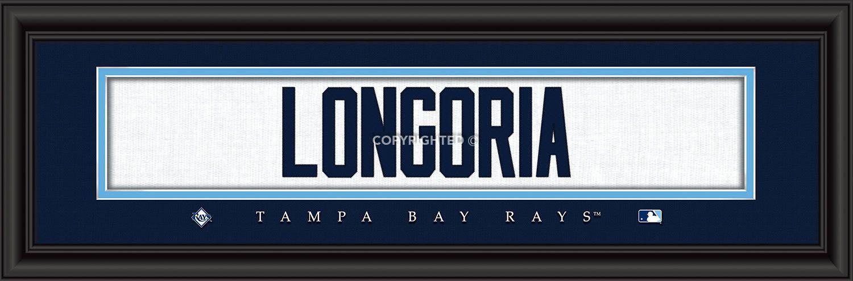 "Tampa Bay Rays Evan Longoria Print - Signature 8""x24"""