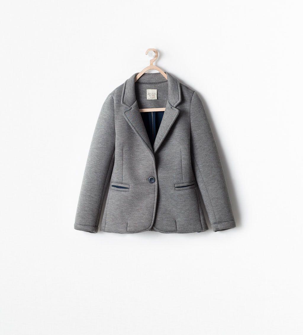 chaqueta americana niña zara