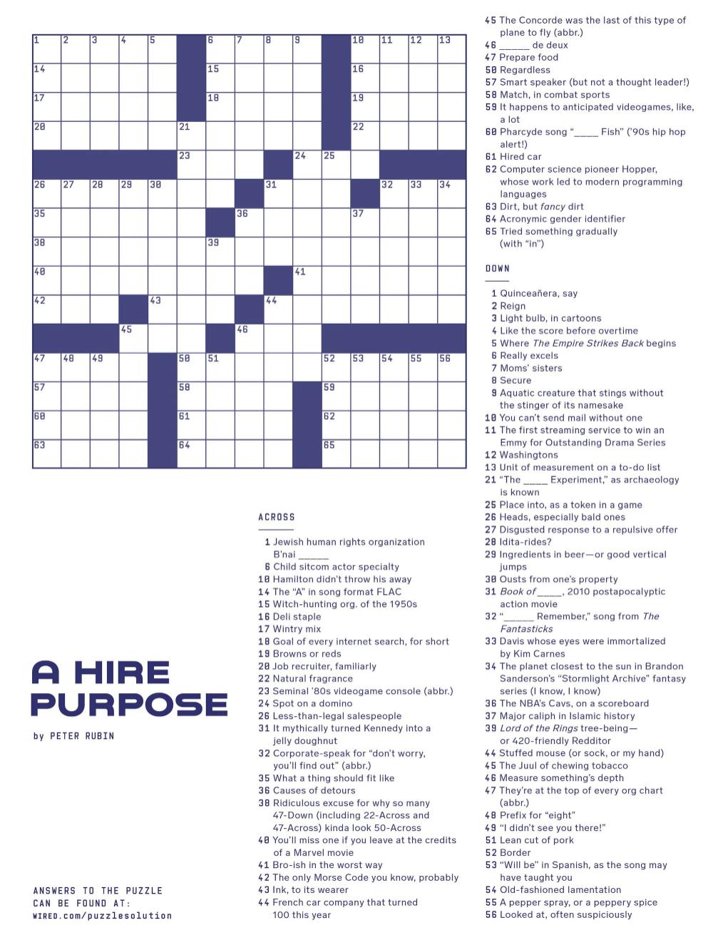 Upstart Crossword Puzzle Builders Get Their Point Across