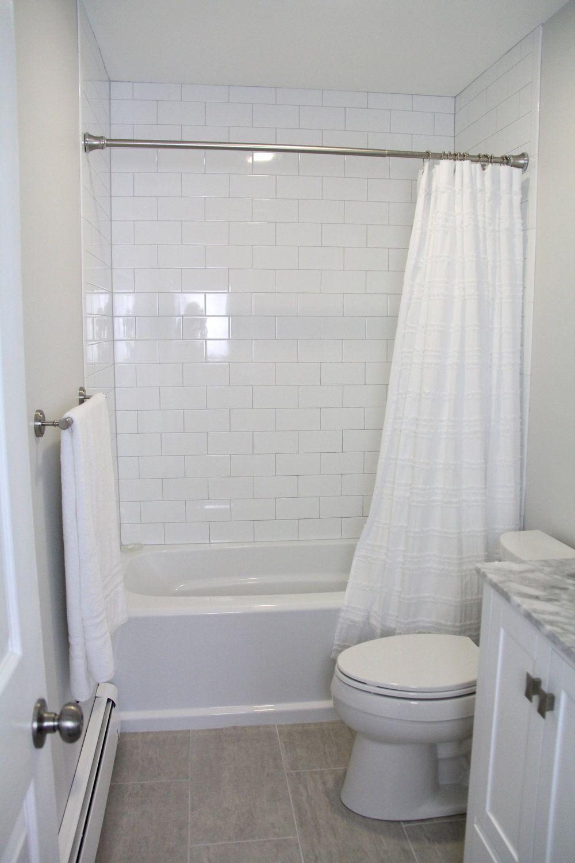 Our Bathroom Remodel In 2020 Bathrooms Remodel Small Bathroom White Bathroom Tiles