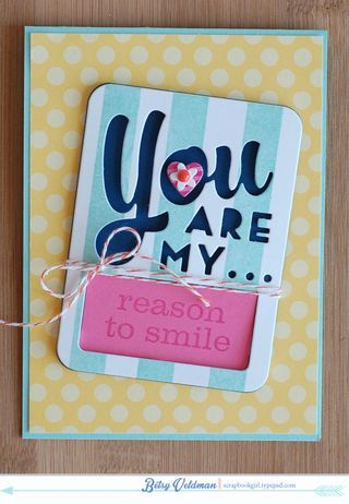 Reason To Smile Card by Betsy Veldman for Papertrey Ink (February 2014)