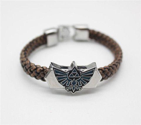 Bracelets - Top Quality The Legend Of Zelda Hand Leather Weave Brown Bracelet