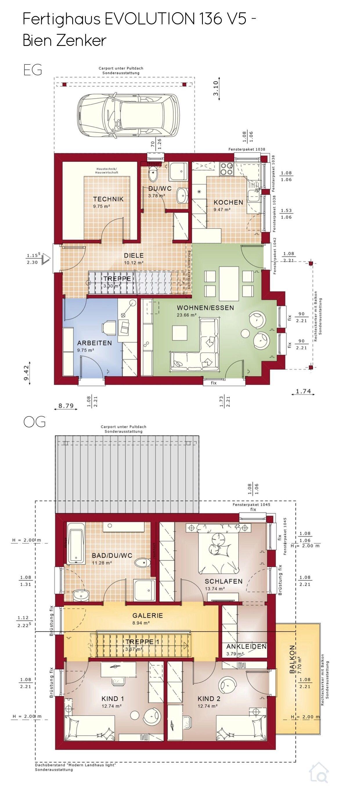 Grundriss Einfamilienhaus Mit Carport Garage Satteldach