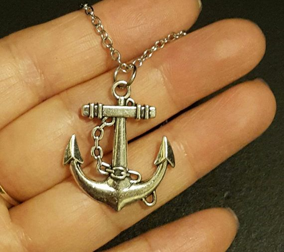 Nautical Necklace Anchor Charms Anchor by GoldendragonUS on Etsy