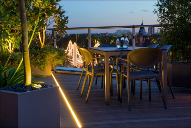 Pflanzkübel Glas Geländer Essplatz Holzroste Dachterrasse Pinterest - terrassen gelander design